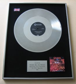 "QUEEN - FRIENDS WILL BE FRIENDS PLATINUM 12"" SINGLE PRESENTATION DISC"